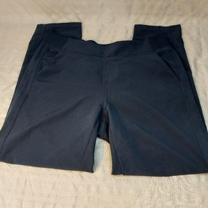 Casual career athletic navy blue slacks size mall
